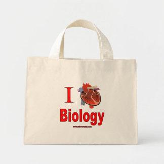 Amo biología bolsa de tela pequeña