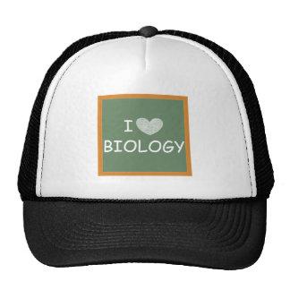 Amo biología gorras