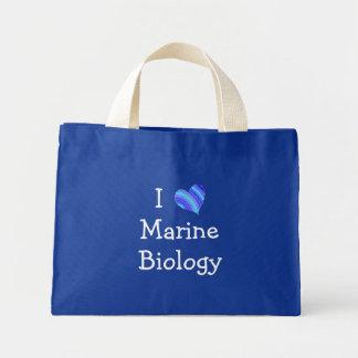 Amo biología marina bolsa tela pequeña