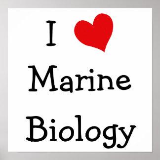 Amo biología marina póster