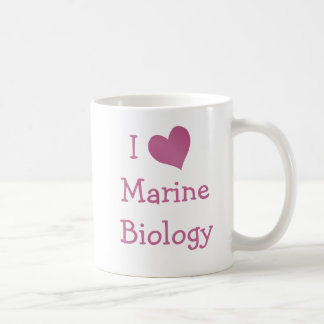 Amo biología marina tazas de café