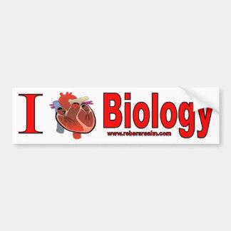 Amo biología pegatina de parachoque