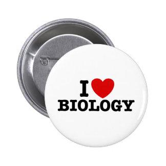 Amo biología pin redondo de 2 pulgadas