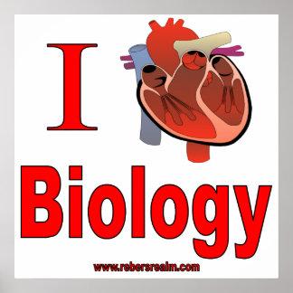 Amo biología póster