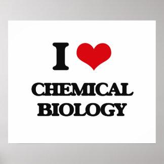 Amo biología química póster