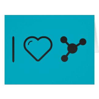 Amo biología tarjeta de felicitación grande