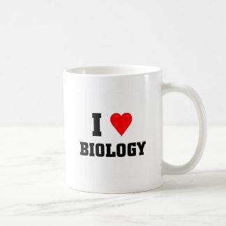Amo biología taza clásica