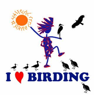 Amo Birding Adorno Fotoescultura