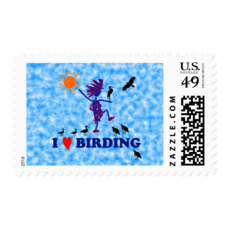 Amo Birding Sello Postal