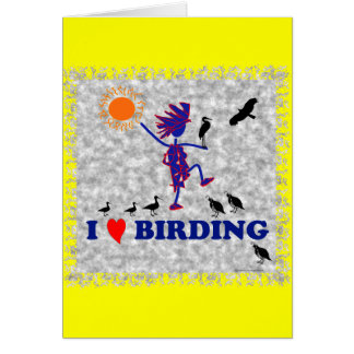 Amo Birding Tarjeta De Felicitación