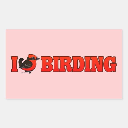 Amo Birding VEFL Pegatina Rectangular