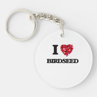 Amo Birdseed Llavero Redondo Acrílico A Una Cara