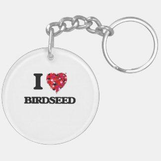 Amo Birdseed Llavero Redondo Acrílico A Doble Cara