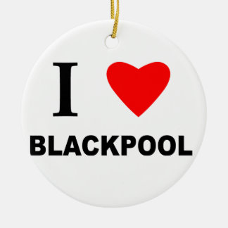 Amo Blackpool Adorno Redondo De Cerámica