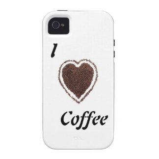 Amo blanco del café iPhone 4/4S carcasas