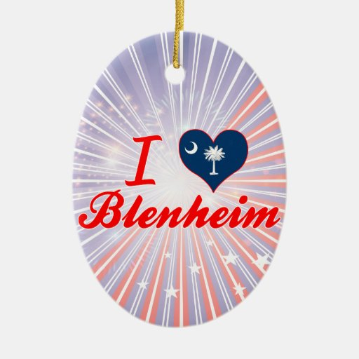 Amo Blenheim, Carolina del Sur Adorno Ovalado De Cerámica