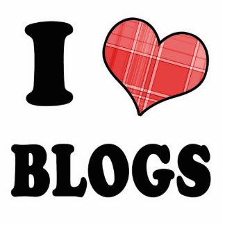Amo (blogs del corazón de la tela escocesa) adorno fotoescultura