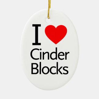 Amo bloques de escoria ornamento para arbol de navidad