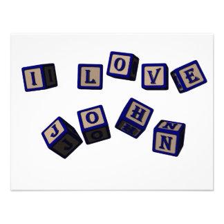 Amo bloques del juguete de Juan en azul Anuncios