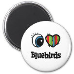 Amo Bluebirds (del corazón) Imanes