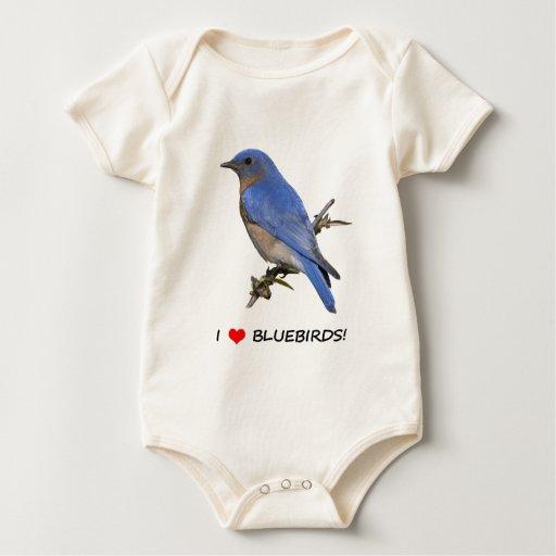 Amo Bluebirds (del corazón) Traje De Bebé
