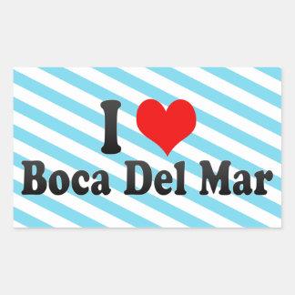 Amo Boca Del Mar, Estados Unidos Pegatina Rectangular