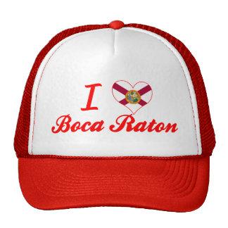 Amo Boca Raton, la Florida Gorro De Camionero