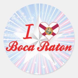 Amo Boca Raton la Florida Pegatinas
