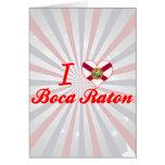 Amo Boca Raton, la Florida Tarjetón