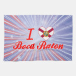Amo Boca Raton, la Florida Toalla