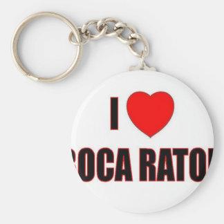 Amo Boca Raton Llavero Redondo Tipo Pin