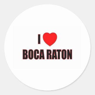 Amo Boca Raton Etiquetas Redondas