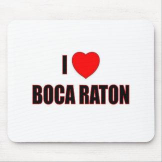 Amo Boca Raton Alfombrillas De Ratón