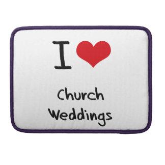 Amo bodas de la iglesia funda para macbook pro