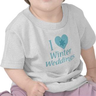 Amo bodas del invierno camiseta