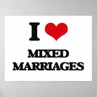 Amo bodas mezcladas póster
