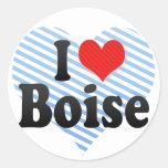 Amo Boise Etiqueta Redonda