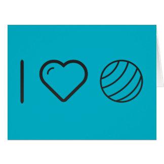 Amo bolas del gimnasio tarjeta de felicitación grande