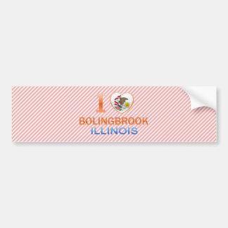 Amo Bolingbrook, IL Etiqueta De Parachoque