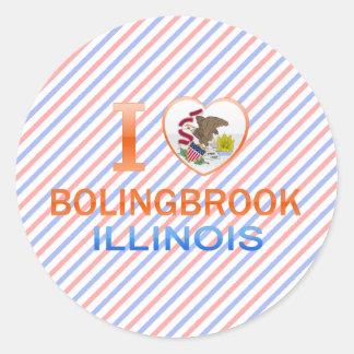 Amo Bolingbrook, IL Pegatinas Redondas