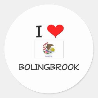 Amo BOLINGBROOK Illinois Pegatina Redonda