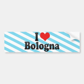 Amo Bolonia Pegatina De Parachoque