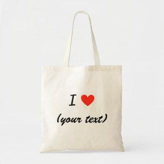 Amo bolsos (de su texto) bolsa tela barata