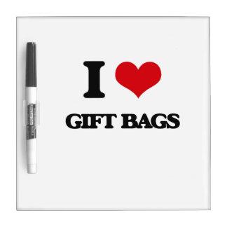 Amo bolsos del regalo pizarras