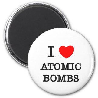 Amo bombas atómicas imán redondo 5 cm