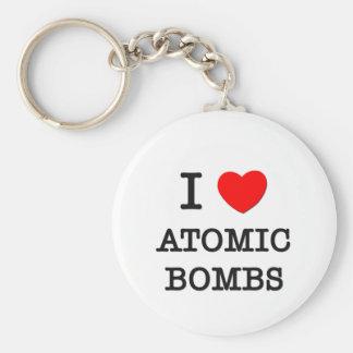 Amo bombas atómicas llaveros personalizados
