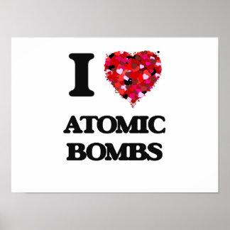 Amo bombas atómicas póster
