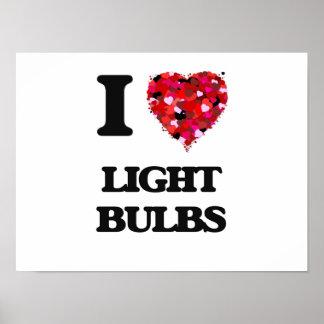 Amo bombillas póster
