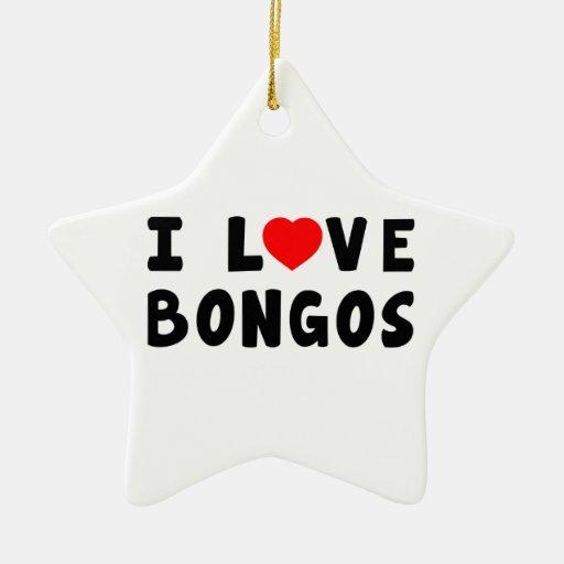 Amo bongos adorno de cerámica en forma de estrella