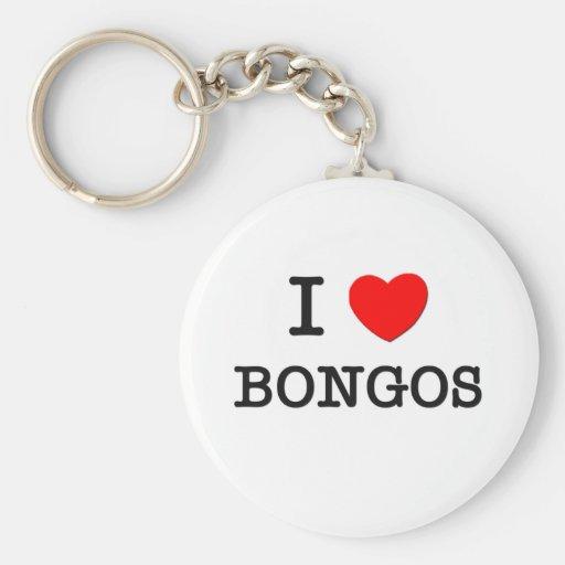 Amo BONGOS Llavero